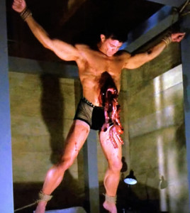 hot bloody muscleguy hanging ahs hotel
